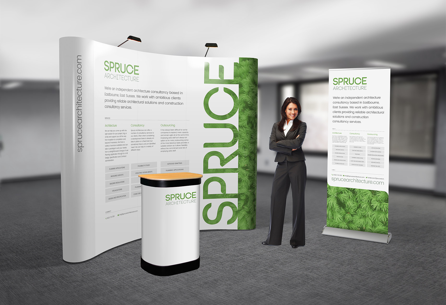 Spruce Architecture - Pop-Up Display