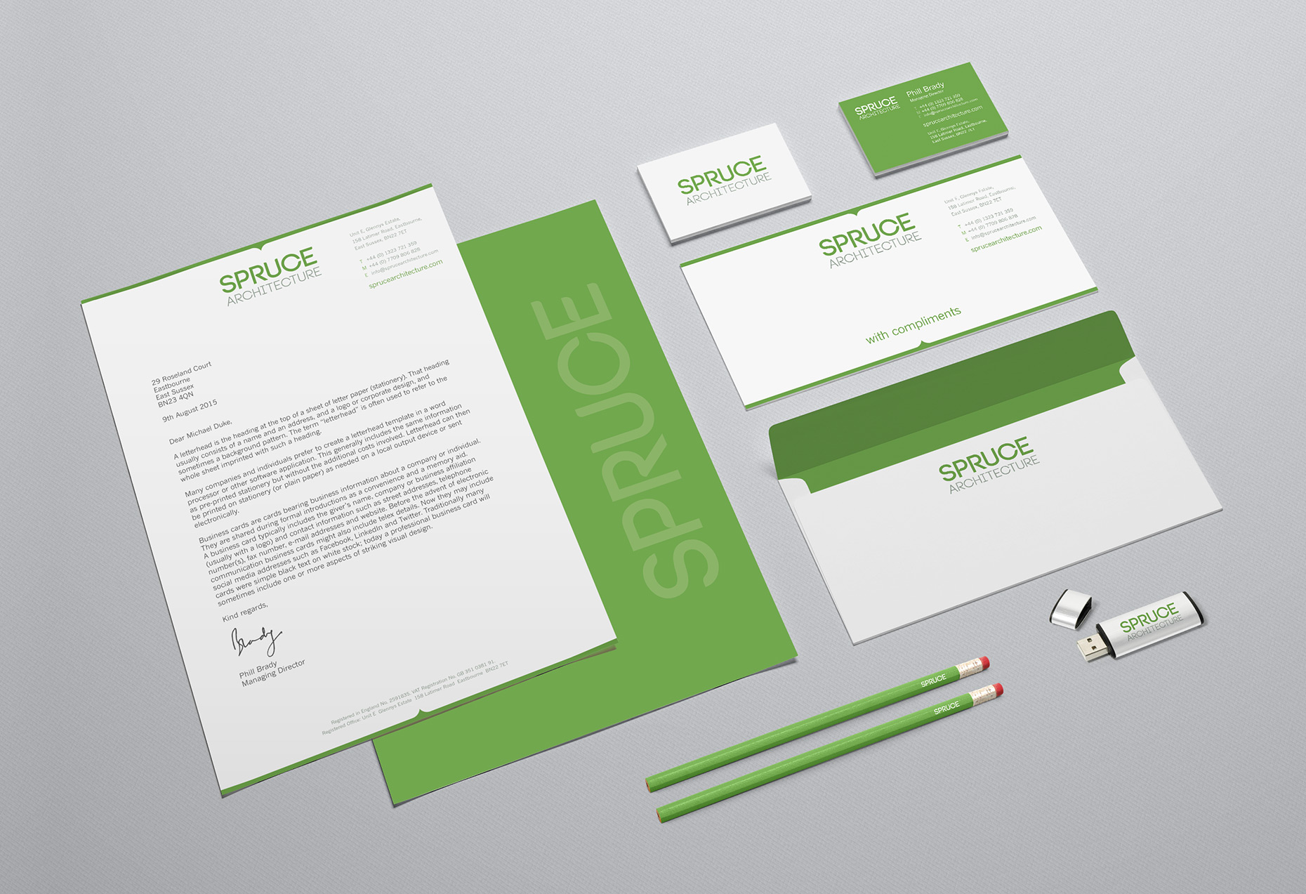 Spruce Architecture Stationery